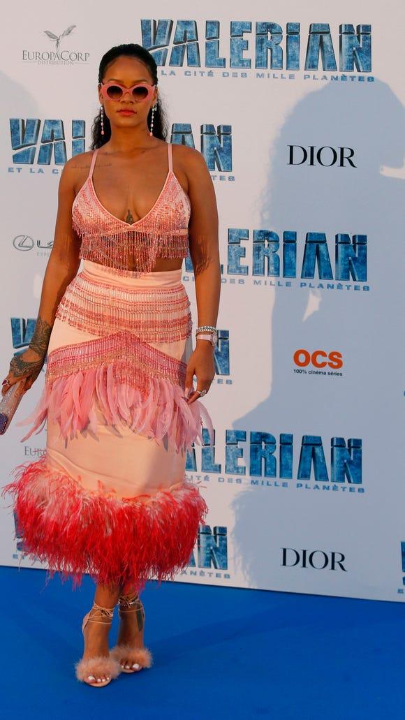 Rihanna wore Prada at the Paris premiere of 'Valerian'