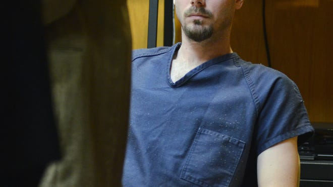 James VanCallis sits in the courtroom during the first day of his preliminary examination Dec. 15, 2014.