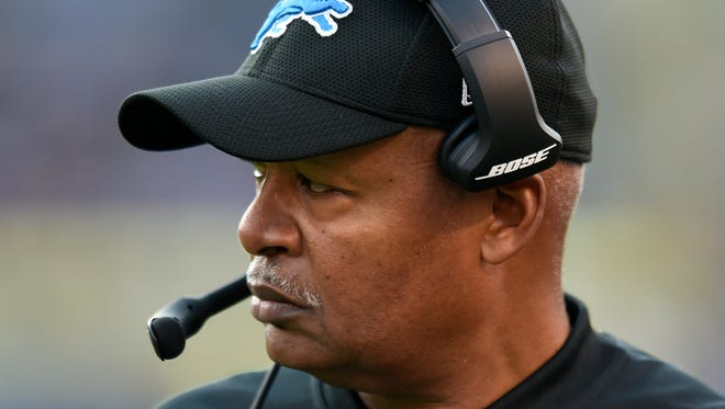 Jim Caldwell walks on the sideline in the second half of the Lions' 44-20 loss to the Ravens on Dec. 3.
