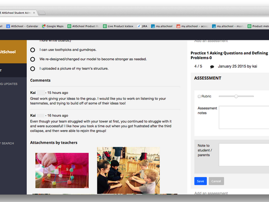 AltSchool offers teachers a more detailed way to interact