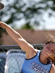 Little Chute's Tess Keyzers was a three-time state champion in the shot put during her high school career.