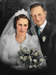 Betty and Clement Smith were married in the early 1940s