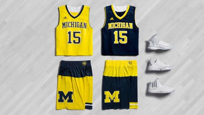 2015 Michigan basketball postseason uniforms