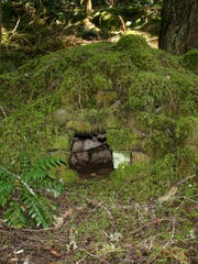 This is an old stone oven that may have been built by railroad workers.