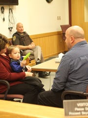 Kristie and Kevin Mclellan adopted Carter Mclellan Tuesday, Nov. 22, 2016 as part of Michigan Adoption Day.