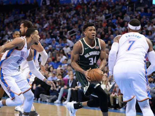 NBA: Milwaukee Bucks at Oklahoma City Thunder