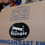 Move For Hunger donates leftover food when people move.