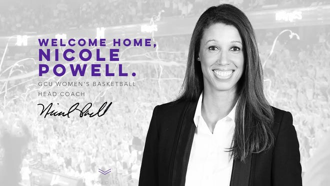 Nicole Powell was named the head womens basketball coach at GCU on April 11, 2017.