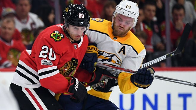 The Predators and Blackhawks meet for the second time this season Friday in Chicago.