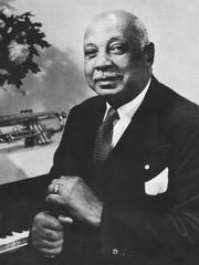 "W.C. Handy, of Florence, Ala., is seen in this undated file photo, is known as ""the Father of the Blues."" Handy combined the sounds of men he heard working on the docks in Florence and the music of his father's church to form the Blues."
