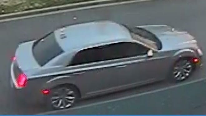 The two suspects in yesterday's burglaries were seen in this car, according to Hendersonville Police.