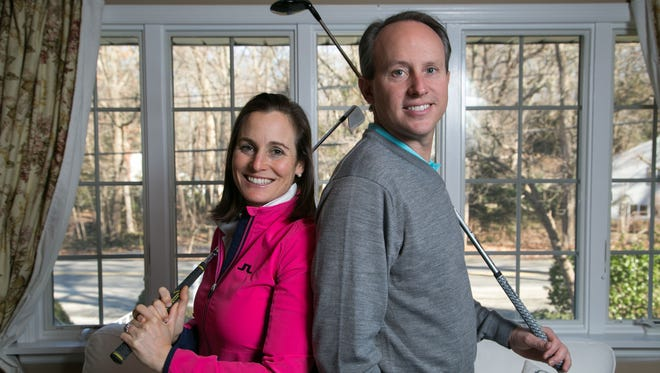Jason and Liz Caron. Liz Caron left the LPGA Tour in 2010 to get married and start a family. She's coming back this year to play in the KPMG Women's PGA Championship at Westchester Country Club in June.