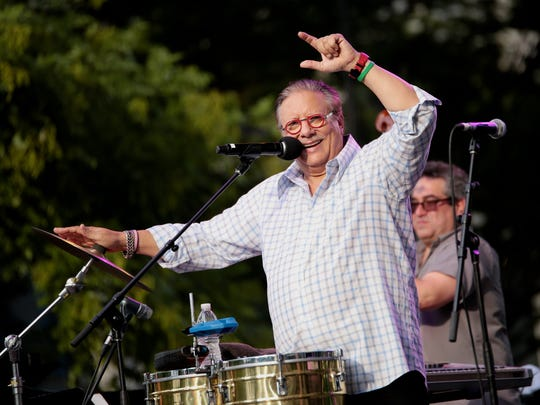 Cuban-born trumpeter Arturo Sandoval performs during the 36th Annual Detroit Jazz Festival on Monday, September 7, 2015 at the JP Morgan Chase Main Stage, in Detroit.