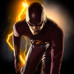 "The CW is hoping ""The Flash"" (with Grant Gustin in the costume) will follow in Arrow's trajectory."