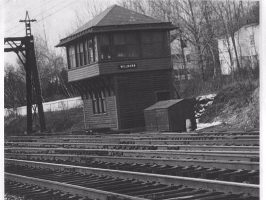 The Millburn train station switching tower was located
