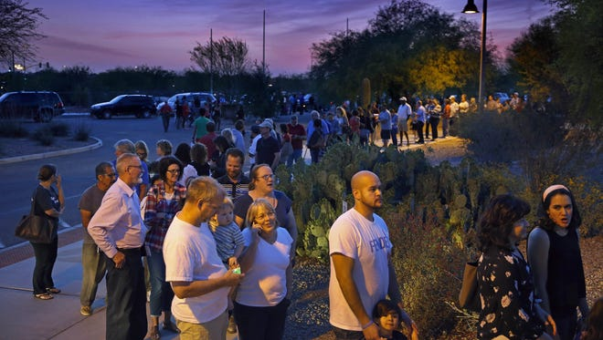 Some voters waited in line for 6 to 7 hours to cast a ballot in the 2016 Presidential Preference Primary. Some were registered independents  who thought, mistakenly, that they could vote in the closed primary.