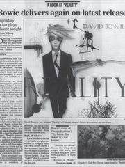 Review of David Bowie's 'Reality' album.