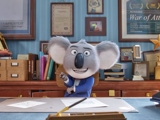 MATTHEW MCCONAUGHEY stars as dapper koala Buster Moon—who