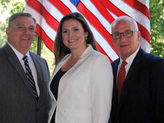 Republican freeholder candidates (from left) Carman