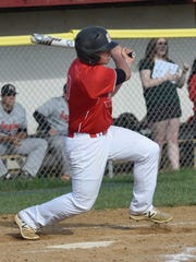 Riverheads' Chase Armstrong hits an RBI double in the