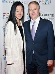 Designer Vera Wang and  CEO of Men's Wearhouse Doug