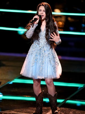 "Farmington's Chevel Shepherd performs on NBC's ""The Voice""  on Oct. 21. Shepherd was back on the program tonight, performing a cover of ""Little White Church."""