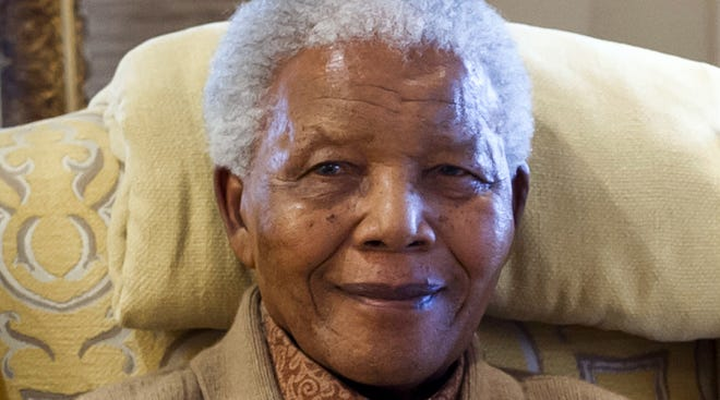 Former South African President Nelson Mandela is seen on July 17, 2012, at his home.