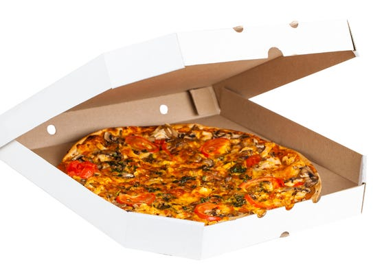 Pizza boxes often contain food waste or oils that can't