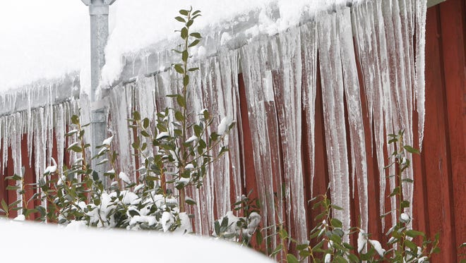 Ice dams were one of the big problems this winter.
