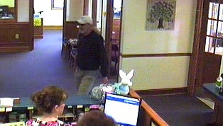 Police are searching for a man they say robbed a Hendersonville bank Monday morning.