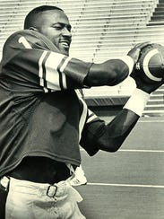 Andre Rison at MSU football's picture day in 1987.