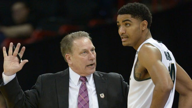 Tom Izzo, Gary Harris and Michigan State face Virginia in New York on Friday.