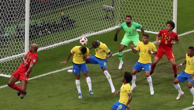 Belgium took a 1-0 lead on Fernandinho's own goal.