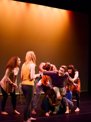 """A scene from Clare Cook Dance Theater's """"Touching Loss,"""" through Saturday at the AcA."""