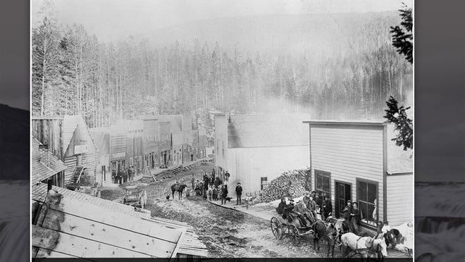 Historical photos like this of the now ghost town of Garnet are part of the experience the new ExploreBig site gives you.