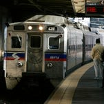 A SEPTA regional train is shown in 2004. SEPTA took all its 120 Silverliner V cars out of service Friday after finding a fractured beam on one car and fatigue cracks on almost all other cars. The cars are the newest in the agency's rail fleet, but it still uses older equipment.