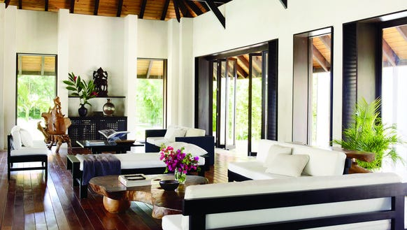 Living room at the Dominican Republic estate of Marc