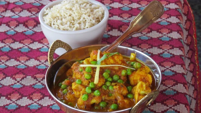 LISA MCKINNON/THE STAR On the menu at Himalaya in Ventura and Thousand Oaks, cauli matar is a vegetarian dish of cauliflower and peas cooked with onions and tomatoes in mild Himalayan spices.