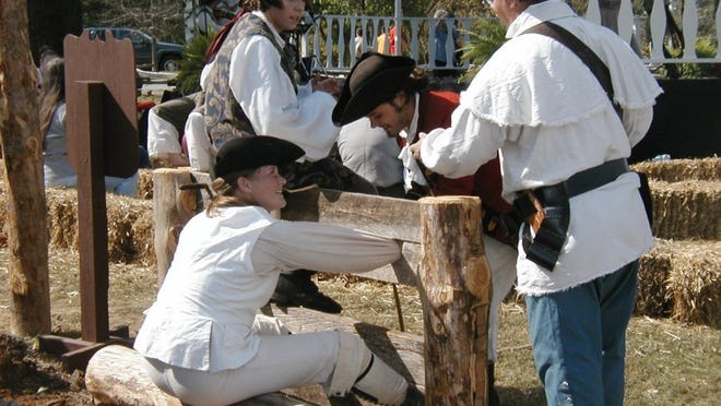 Re-enactors are pictured at Cumberland Gap National Historical Park which is hosting a celebration April 9-11 to commemorate the National Park Service's 100th anniversary. The celebration will also commemorate the release of a quarter by the U.S. Mint that honors the park. (NATIONAL PARK SERVICE)