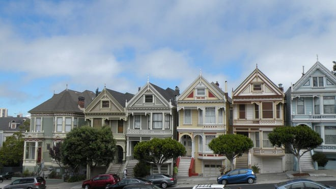 Linda Lange/Special to the News Sentinel The Painted Ladies of Alamo Square showcase Victorian and Edwardian architecture.