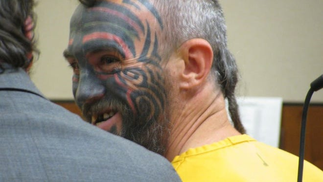 Dorothy Chomicz/News-Miner Daniel Lloyd Selovich, who legally changed his name to Pirate, is shown at his November arraignment in Fairbanks, Alaska.