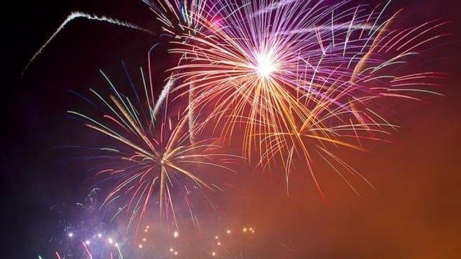 Fireworks stock image.