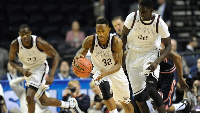 Mississippi State guard Craig Sword (32) leads his team into the season-opener on Friday against Eastern Washington.
