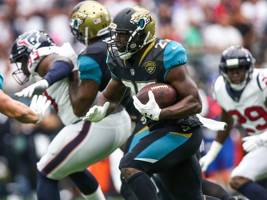 Rookie rushing sensation Leonard Fournette is officially listed as questionable for Sunday's game.