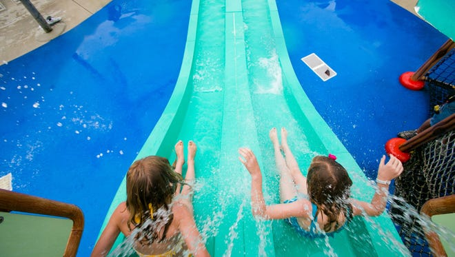 Dukes Lagoon provides relief from the heat at Dutch Wonderland in Lancaster.