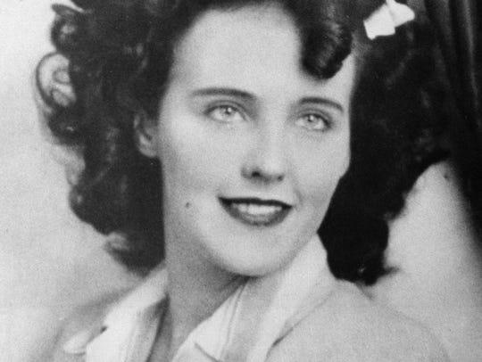 """Actress Elizabeth Short, known as """"Black Dahlia,"""" is"""