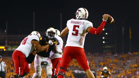 Texas Tech Red Raiders quarterback Patrick Mahomes