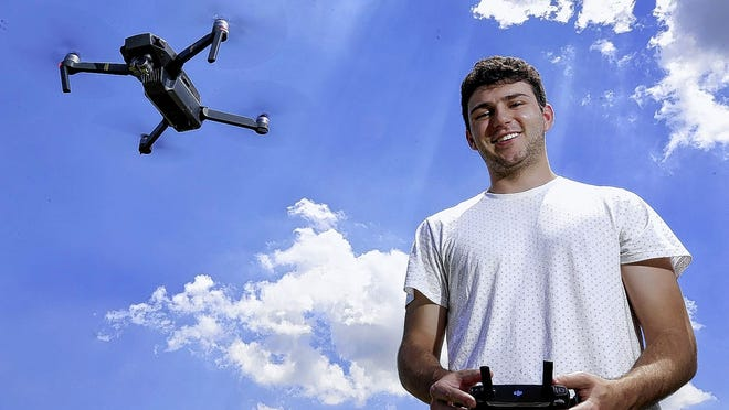 Dale Oates is the communications specialist for the city of Delaware. He's also a licensed commercial drone pilot -- a skill city leaders have taken advantage of in a number of ways.