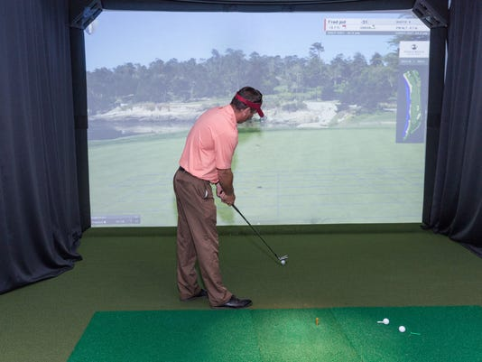 BRANCHBURG: Golfers have 26 championship golf courses to choose from at the Somerset County Park Commission HDGolf simulator PHOTO CAPTION
