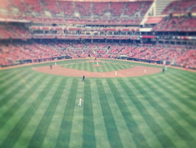 This image was shot from Great American Ball Park on Friday. It was part of #InstaReds: a social media night co-hosted by The Enquirer and the Cincinnati Reds. Professional photographers from both organizations offered tips on how to take Instagram photos.